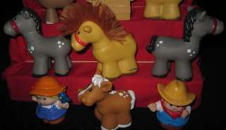Fisher Price Little People Assorted Horses Farm Tractor Apples `95 `07