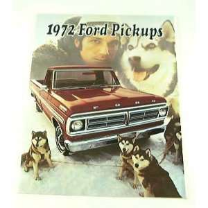 1972 72 FORD PICKUP Truck BROCHURE F350 F100 F250