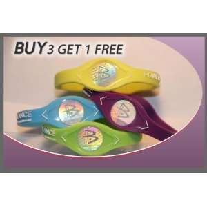 Power Balance Bands Neon Blue, Purple, Yellow & Green Size XS only $