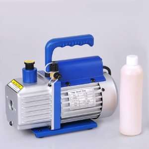 AC Refrigerant Vacuum Pump 3 CFM Single Stage Rotary Vane