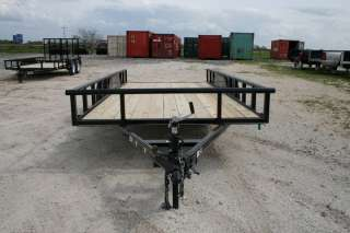 New 16 x 7 Bumper Pull Equipment Utility Trailer w/3500 Axles