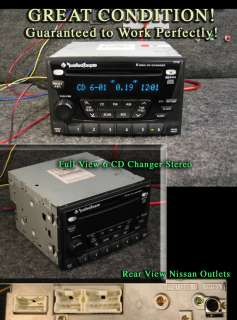 NISSAN XTERRA ROCKFORD FOSGATE 6 CD DISC CHANGER RADIO 08 07 06 05 04